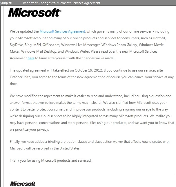 Microsoft services agreement updated the field guide msftserviceschange01 links microsoft services agreement platinumwayz